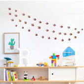 DCTOP Dinosaur Print Peel Stick Wall Decals