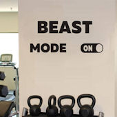 DCTOP Beast Mode Peel and Stick Wall Decals