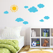 Decowall Sun and Clouds Wall Decals