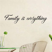 DCTOP Family is Everything Peel Stick Wall Decals