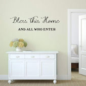 DCTOP Bless This House Peel and Stick Wall Decals