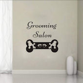 DCTOP Grooming Station Peel and Stick Wall Decals