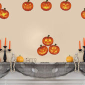DCTOP Halloween Pumpkin Peel and Stick Wall Decals