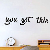 DCTOP You Got This Peel and Stick Wall Decals