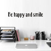 DCTOP Be Happy Peel and Stick Wall Decals