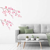 Decowall Watercolor Cherry Blossom Wall Decals