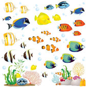 Decowall Coral Reef Wall Decals
