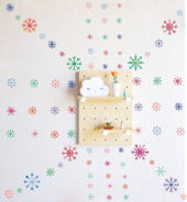 DCTOP Holiday Snowflake Peel and Stick Wall Decals