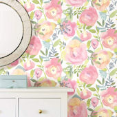 NuWallpaper Peachy Keen Peel and Stick Wallpaper