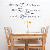 DCTOP Food Family Love Peel and Stick Wall Decals
