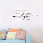 DCTOP Wonderful World Peel and Stick Wall Decals