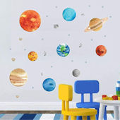 DCTOP Outer Space Peel and Stick Wall Decals