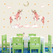 DCTOP Magical Unicorns Peel and Stick Wall Decals