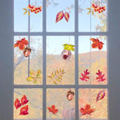 DCTOP Autumn Leaves Peel and Stick Wall Decals