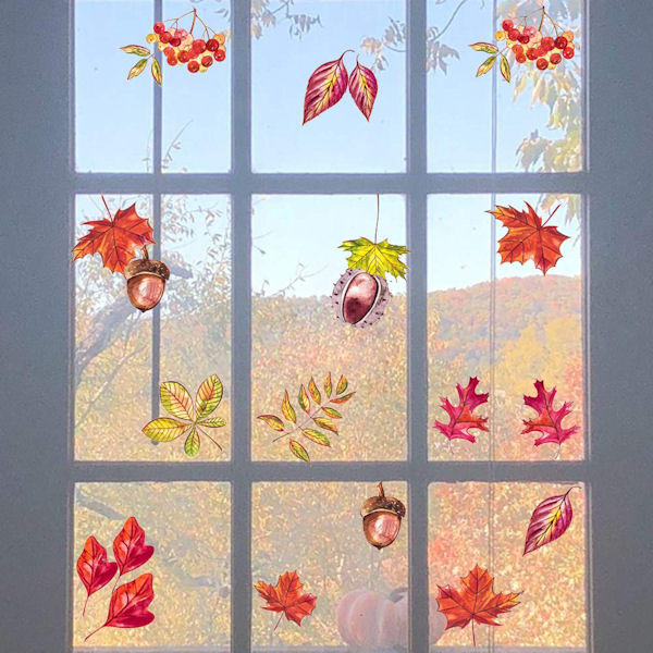 DCTOP Autumn Leaves Peel and Stick Wall Decals - Wall Sticker Outlet