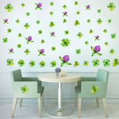 DCTOP St Patrick Shamrock Peel Stick Wall Decals