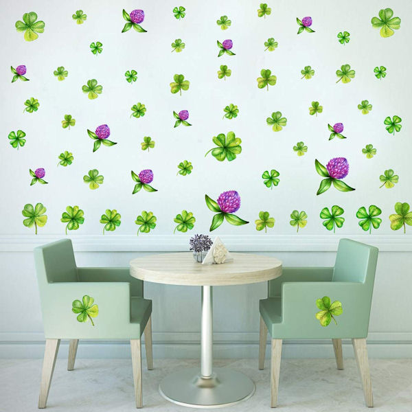 DCTOP St Patrick Shamrock Peel Stick Wall Decals - Wall Sticker Outlet