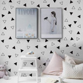 DCTOP Triangle Peel and Stick Wall Decals