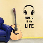 DCTOP Music is My Life Peel and Stick Wall Decals