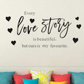 DCTOP Love Story Peel and Stick Wall Decals