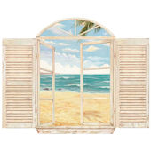 Beach Window Peel and Stick Mural