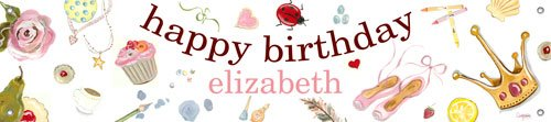 Pretend Girl Birthday Banner - Wall Sticker Outlet