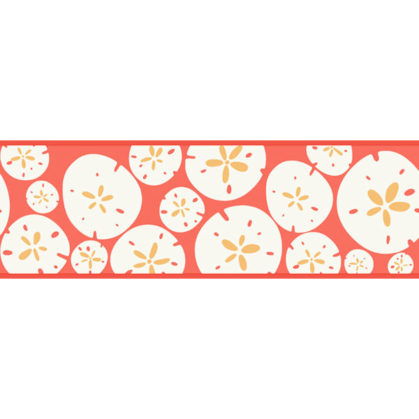 Melon Orange Sand Dollar Border - Wall Sticker Outlet