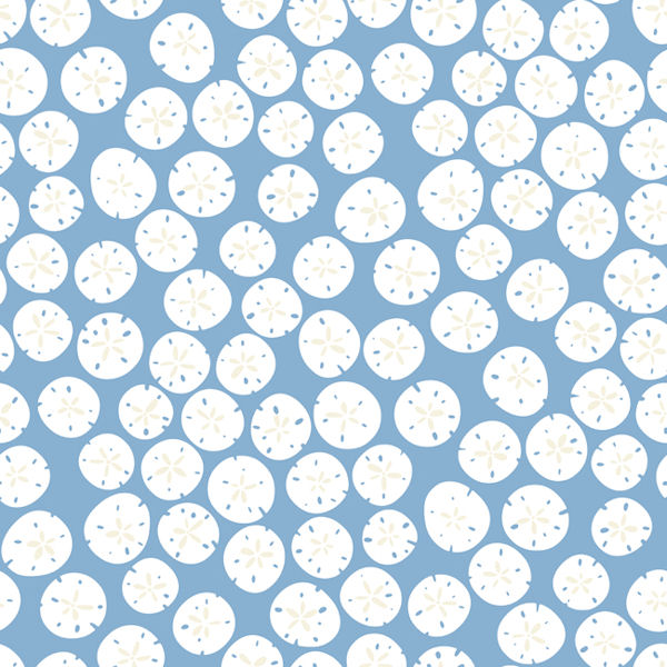 Blue Sand Dollars Wallpaper - Wall Sticker Outlet