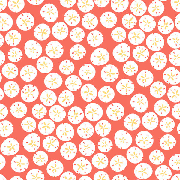 Melon Orange Sand Dollars Wallpaper - Wall Sticker Outlet