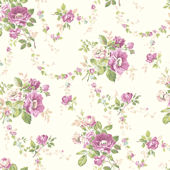 White Victorian Garden Wallpaper