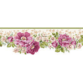 White Victorian Garden Wallpaper Border