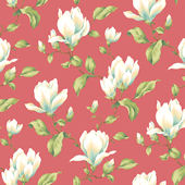Red Magnolia Branch Wallpaper