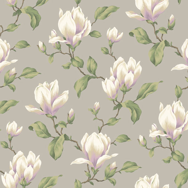 Grey Magnolia Branch Wallpaper - Wall Sticker Outlet: www.wallstickeroutlet.com/wall-decor-detail.php?RecordID=517976