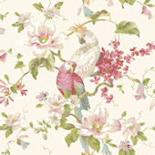 Pink Tropical Birds With Magnolias Wallpaper