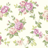 White Garden Rose Trail Wallpaper