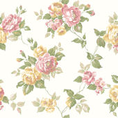 Orange Garden Rose Trail Wallpaper