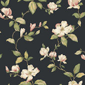 Brown Magnolia Sidewall Wallpaper