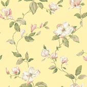 Yellow Magnolia Sidewall Wallpaper