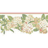 Red Hydrangea Border Wallpaper Border