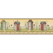 Yellow Country Outhouse Border