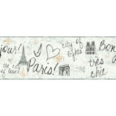 Grey Paris Border