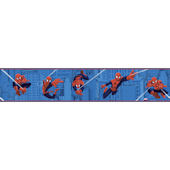 Blue Ultimate Spiderman Badge Border