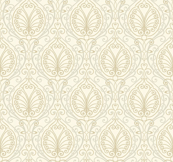 Gold Paisley Wallpaper