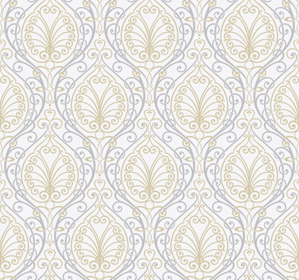 Silver Paisley Wallpaper - Wall Sticker Outlet