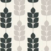 Candice Olson Dark Green Modern Petals Wallpaper