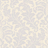 Blue Traditional Damask Wallpaper