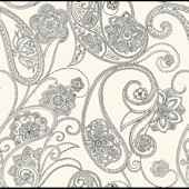 Black Dotted Paisley Wallpaper