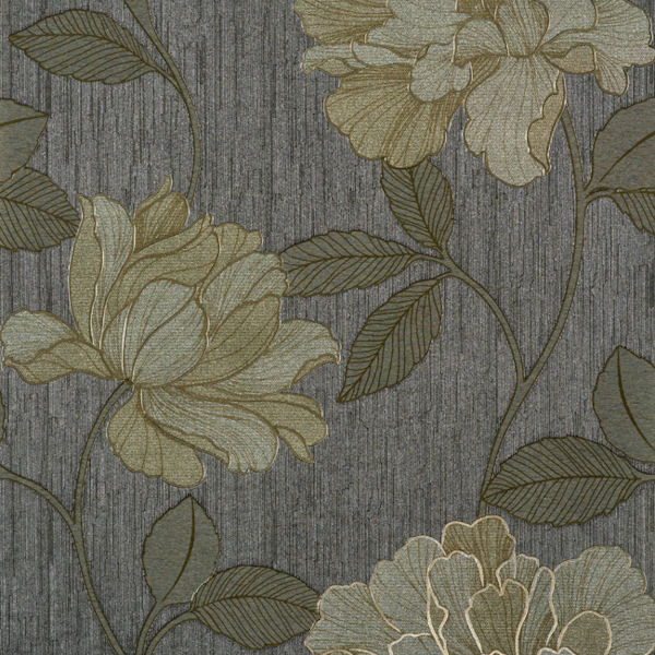 Gold And Grey Charming Wallpaper