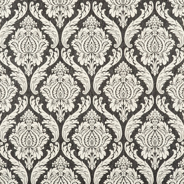 Black and cream damascus wallpaper for Black and cream wallpaper