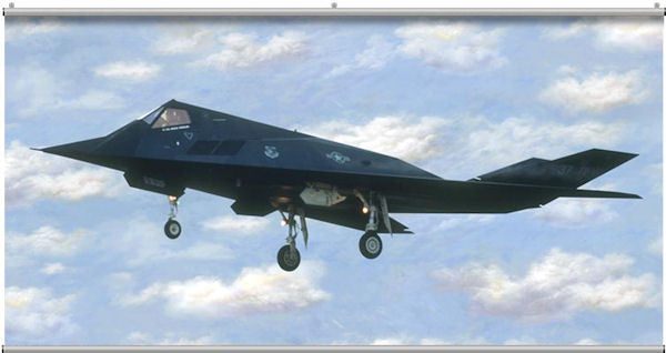 F 117 Stealth Minute Mural - Wall Sticker Outlet